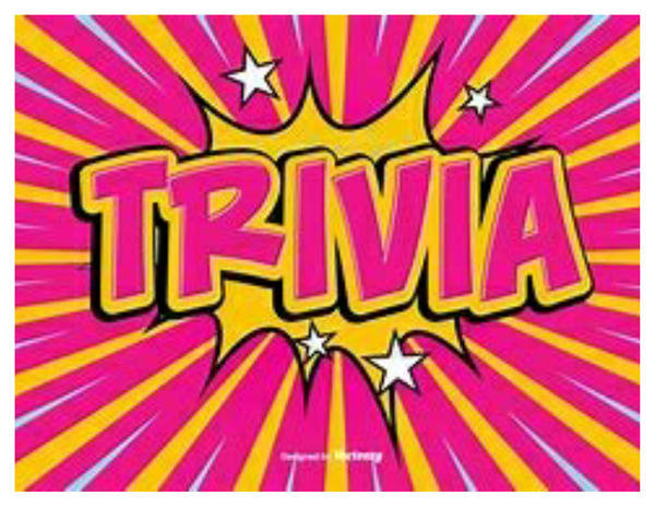 Family Trivia Night - October 24th @ 7pm
